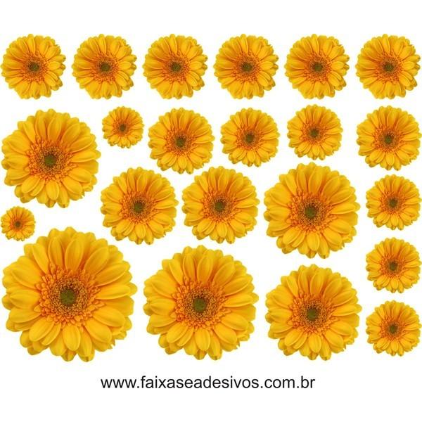 Cartela Gerbera Amarela 1,15 x 0,90cm  - Fac Signs