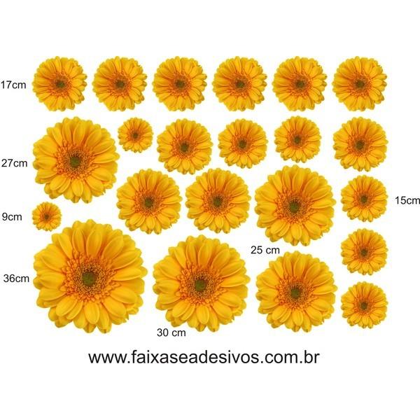 Cartela Gerbera Amarela 1,15 x 0,90cm  - FAC Signs Impressão Digital