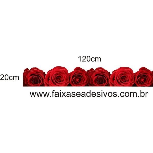 Barrado de rosas vermelhas  - FAC Signs Impressão Digital
