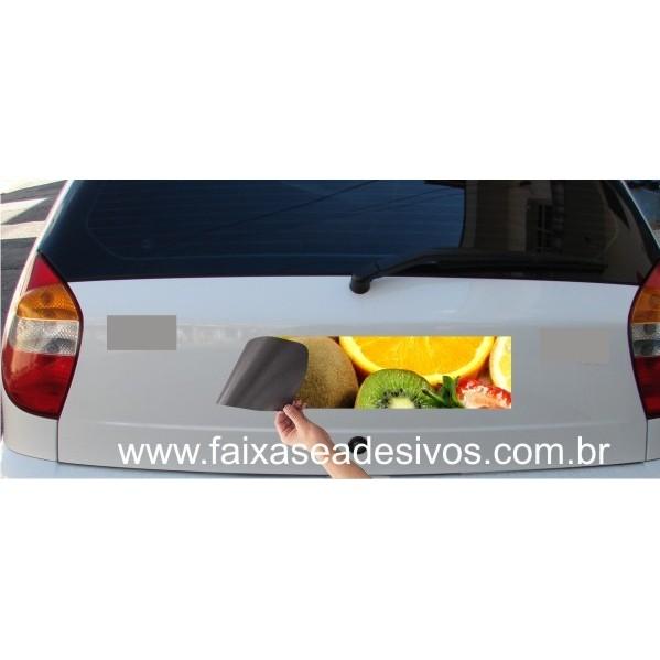 811 - Imã Flexivel para Carro 60x10cm - Envie arte pronta ou solicite a sua! Mais vendido!  - FAC Signs Impressão Digital