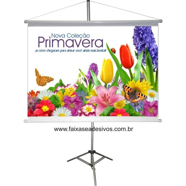 Banner Primavera 90x60cm  - FAC Signs Impressão Digital