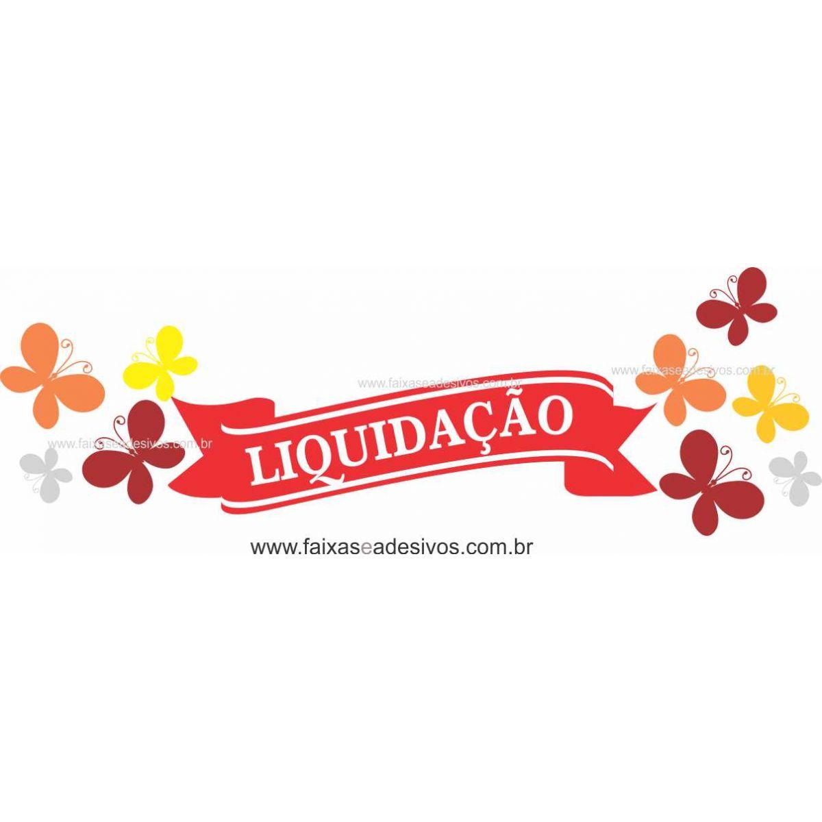 Liquidação com borboletas 170x70cm  - FAC Signs Impressão Digital