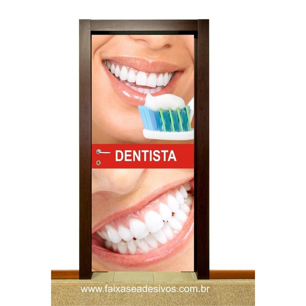 Adesivo Consultório Odontológico 200x85cm  - FAC Signs Impressão Digital