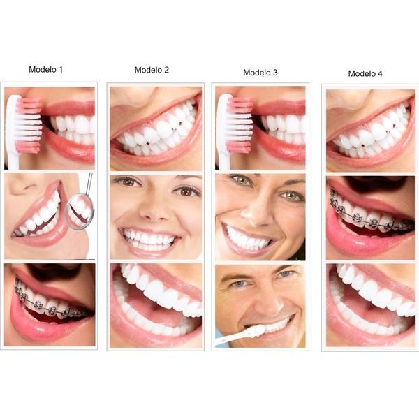 Dentista sorriso bonito adesivo 220x80cm  - FAC Signs Impressão Digital