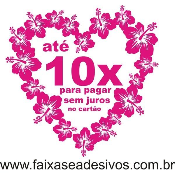 Coração de Flores adesivo 90x90cm  - FAC Signs Impressão Digital