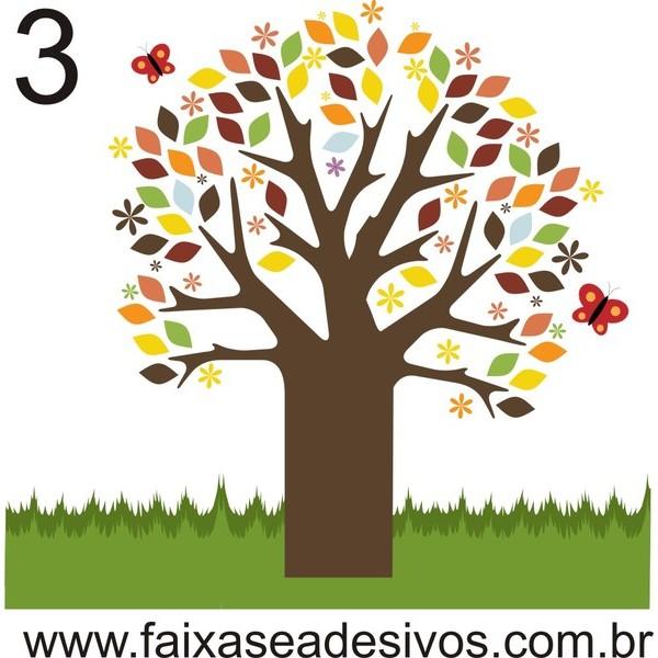 021 - Arvore do Jardim Adesivo Decorativo - Várias cores  - FAC Signs Impressão Digital
