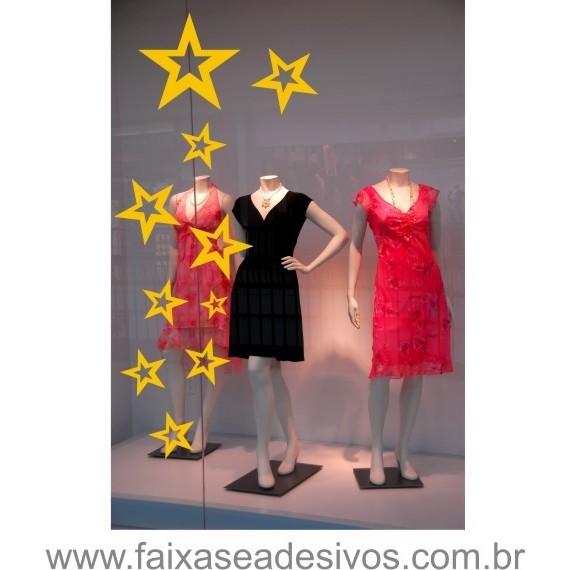 Cartela de estrelas 2 peças  - FAC Signs Impressão Digital