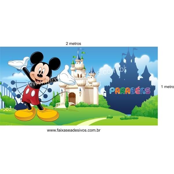 Mickey painel de aniversário   - FAC Signs Impressão Digital