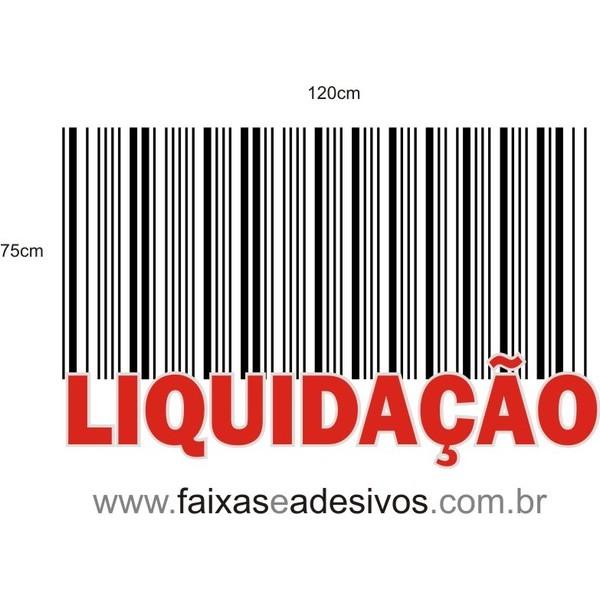 Liquidação Código de Barras Branco -AD3LIQ02  - FAC Signs Impressão Digital