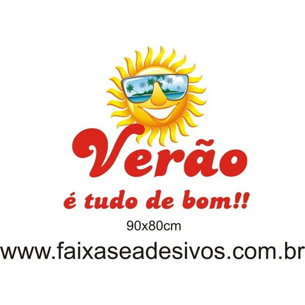 Adesivo Sol com Óculos - vários tamanhos  - FAC Signs Impressão Digital