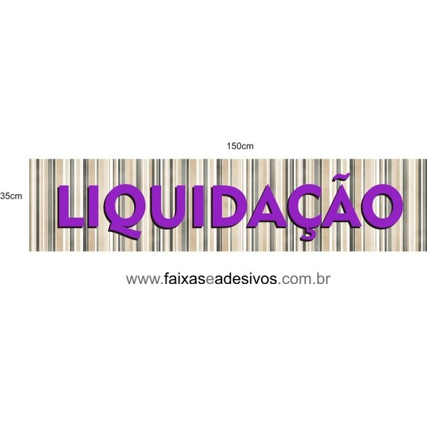 Adesivo Liquidação listras - AD3LIQ05  - FAC Signs Impressão Digital