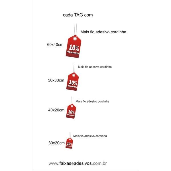 TAGS coloridos de desconto - AD4DESC01  - FAC Signs Impressão Digital