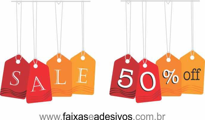 TAG SALE adesivo de vitrine - AD4SALE01  - FAC Signs Impressão Digital