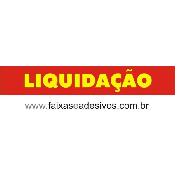 Adesivo LIQUIDAÇÃO Vermelho com Amarelo 1,20 x 0,20m  - FAC Signs Impressão Digital