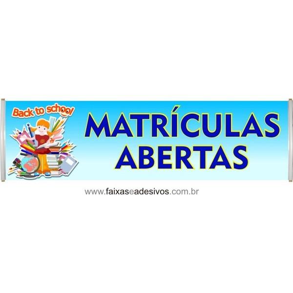 Matrículas abertas Back to school  - Fac Signs