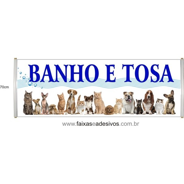 Faixa Banho e Tosa  - por metro  - FAC Signs Impressão Digital