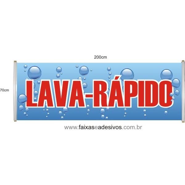 Faixa LAVA-RÁPIDO 70x200cm  - FAC Signs Impressão Digital