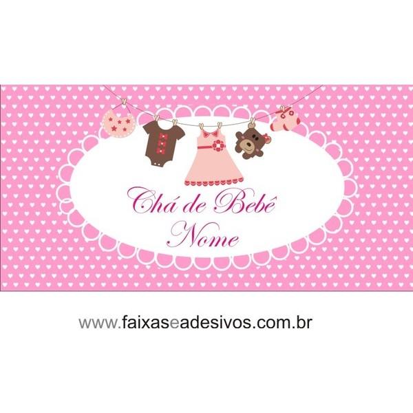 Painel Chá de bebê menina 1,00 x 1,50m  - FAC Signs Impressão Digital