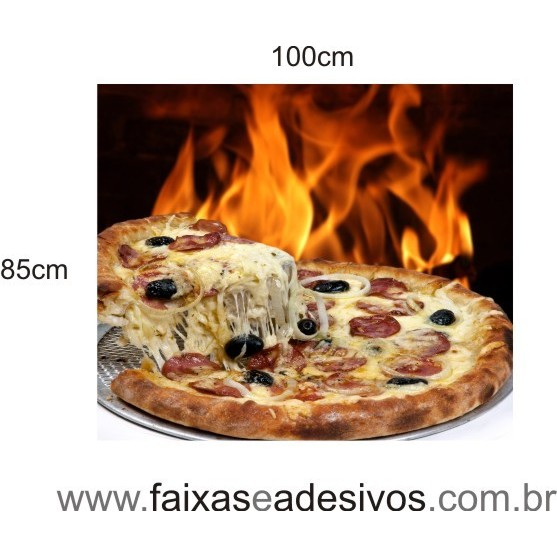 Placa decorativa foto de Pizza  - FAC Signs Impressão Digital