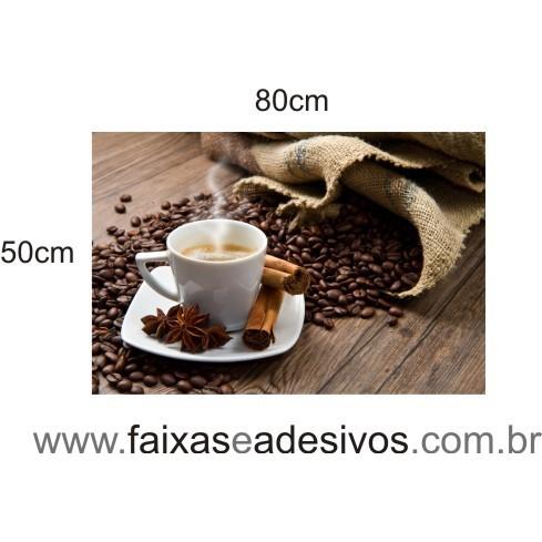 Decorativa café e grãos com aniz e canela  - FAC Signs Impressão Digital