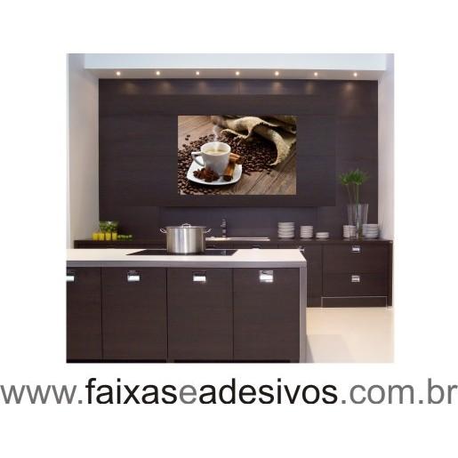 Adesivo Decorativo café e grãos com aniz e canela  - FAC Signs Impressão Digital