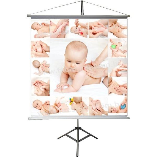 Banner Massagem em Bebê 0,80 x 0,80  - FAC Signs Impressão Digital
