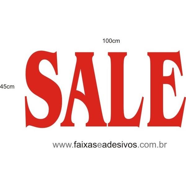 Adesivo SALE 1,00 x 0,45m  - FAC Signs Impressão Digital