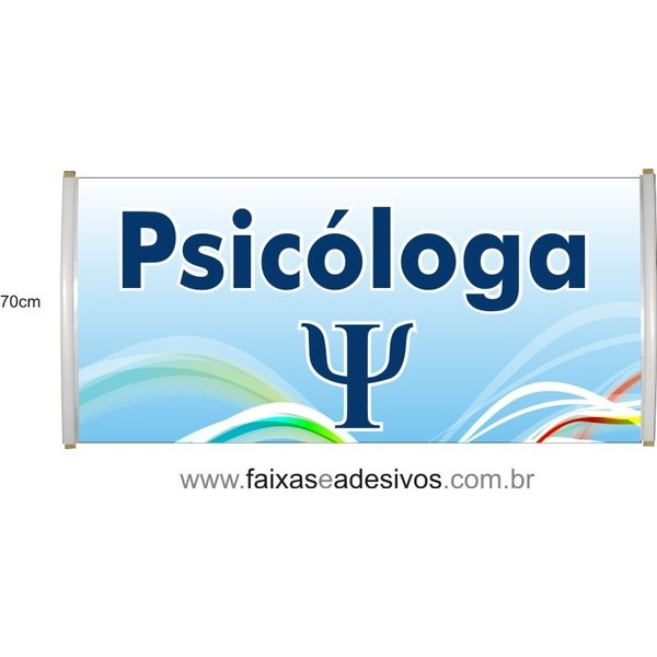 Faixa Psicologa - Ideal para indicar sala de atendimento  - FAC Signs Impressão Digital