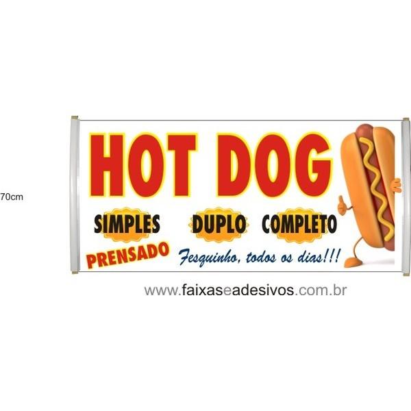 Faixa Hot-Dog o metro  - FAC Signs Impressão Digital
