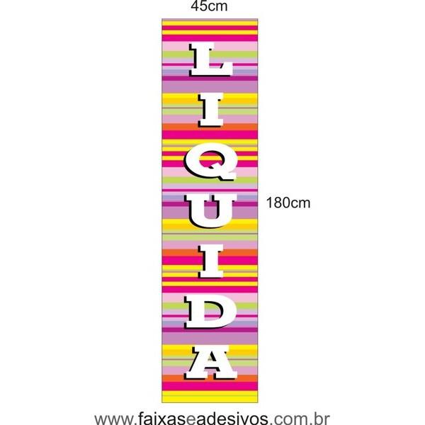 Adesivo Liquida Vertical  - listras LIQUI 011  - FAC Signs Impressão Digital