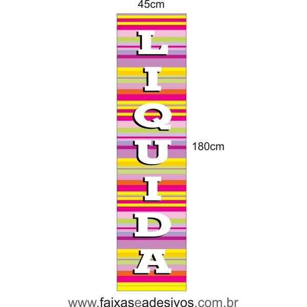 Adesivo Liquida Vertical  - listras LIQUI 011  - Fac Signs