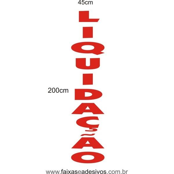 Adesivo Liquidação Vertical Recorte 200x45cm  - FAC Signs Impressão Digital