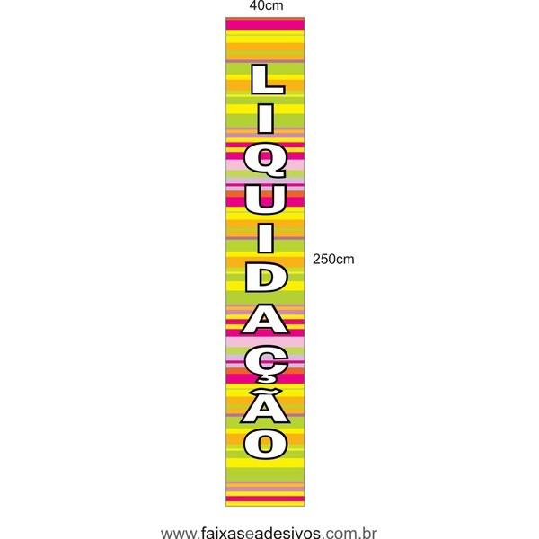 Adesivo LIQUIDAÇÃO vertical 250x40cm - LIQ09LIS  - FAC Signs Impressão Digital