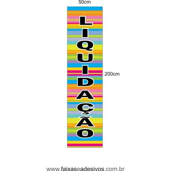 Adesivo vertical Liquidação 200x50cm - LIQ08LIS  - FAC Signs Impressão Digital