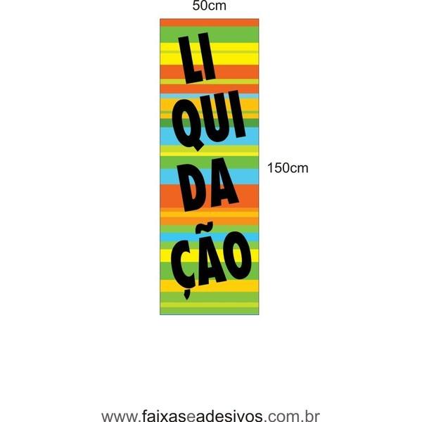 Liquidação Adesivo Vertical 150x50cm - LIQ010LIS  - FAC Signs Impressão Digital