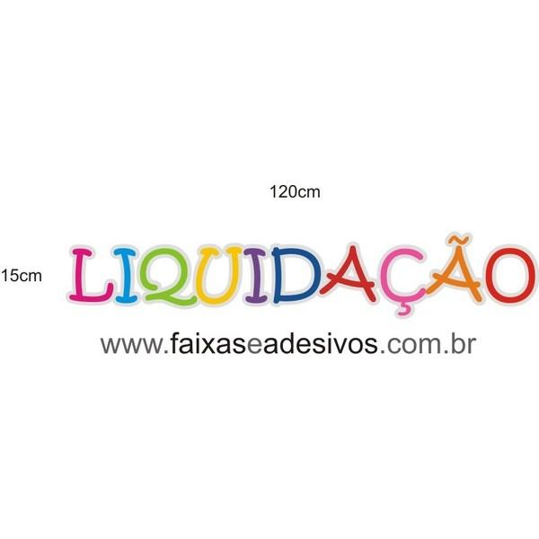 Adesivo Liquidação Letras coloridas 120x15cm  - FAC Signs Impressão Digital