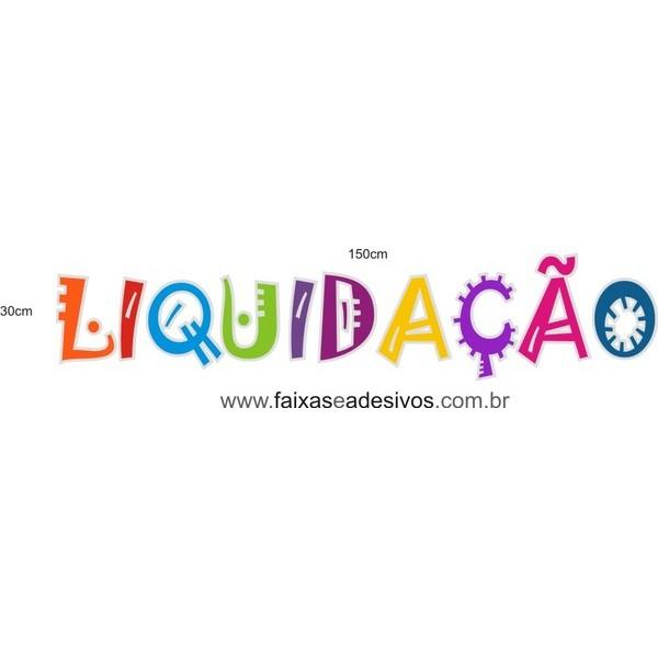 Adesivo letras coloridas LIQUIDAÇÃO - vários tamanhos  - FAC Signs Impressão Digital