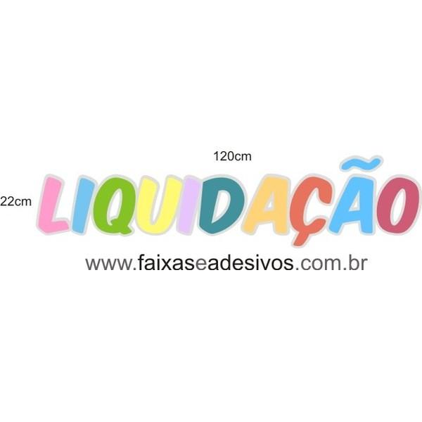 LIQUIDAÇÃO cores K adesivo 120x22cm  - FAC Signs Impressão Digital