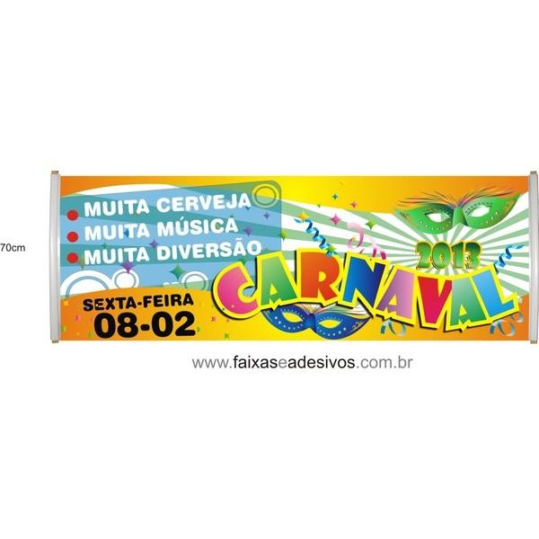 Faixa Carnaval 2,00 x 0,60m  - Fac Signs