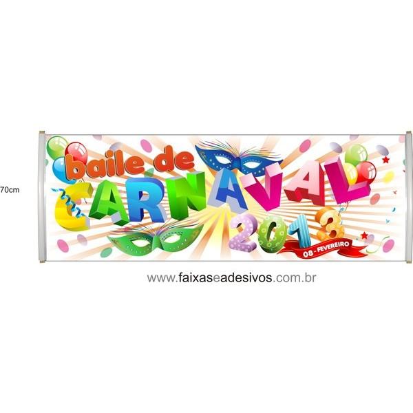 Faixa Carnaval CRN08 2,00 x 0,70m  - FAC Signs Impressão Digital