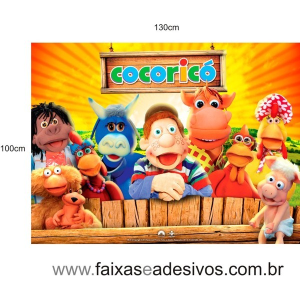 Painel Turma Cocoricó  - FAC Signs Impressão Digital