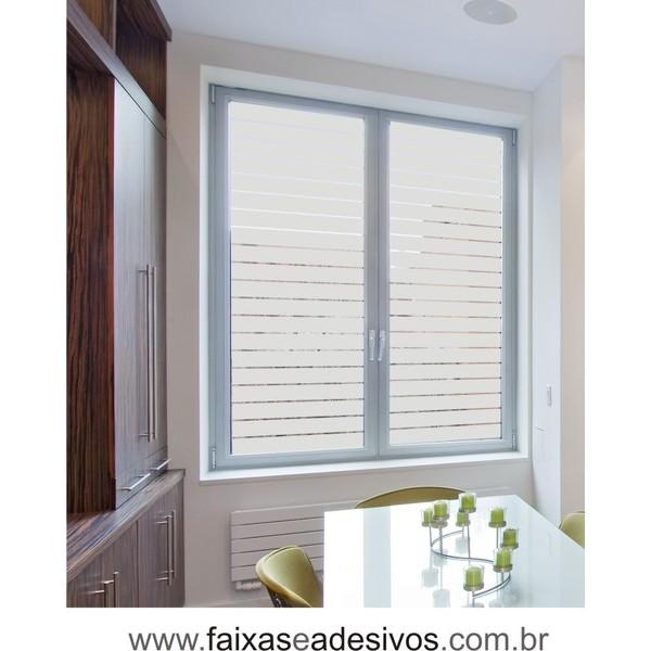 108 - Adesivo jateado para vidro - estilo persiana 90x60cm - Kit 2 peças  - FAC Signs Impressão Digital
