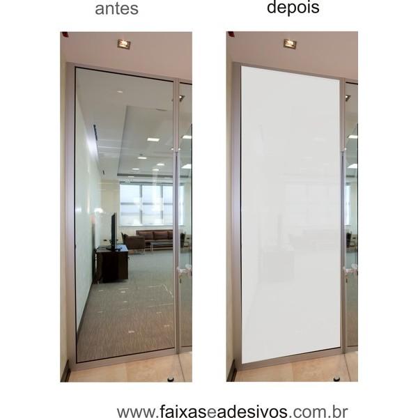 104 - Adesivo jateado inteiro para vidro - 220x70cm  - Fac Signs