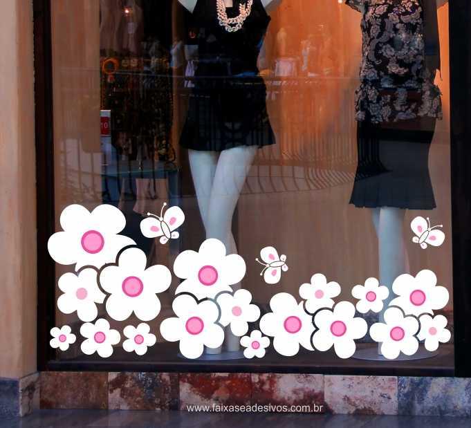Flores com Borboletas Conto de Fadas 1,20 x 0,55m  - Fac Signs