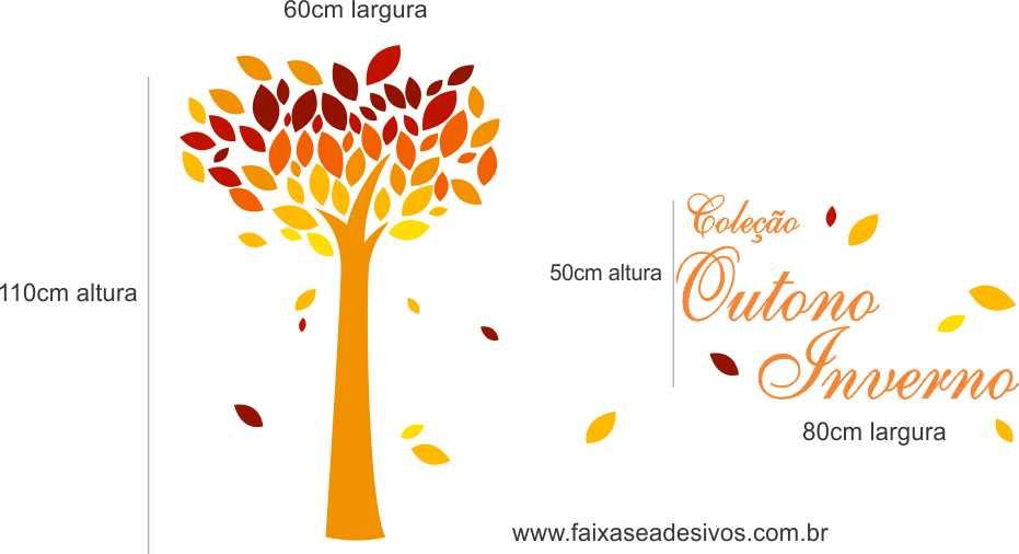 Arvore coração de outono adesivo decorativo  - Fac Signs
