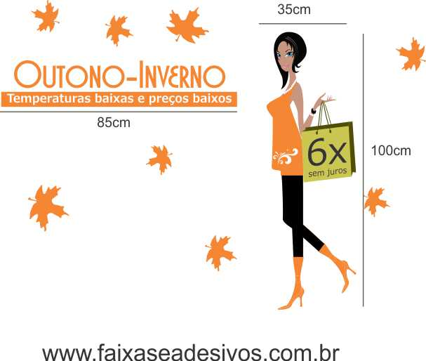 Adesivo Outono Temperaturas e Preço Baixo 1,20 x 1,90m  - Fac Signs