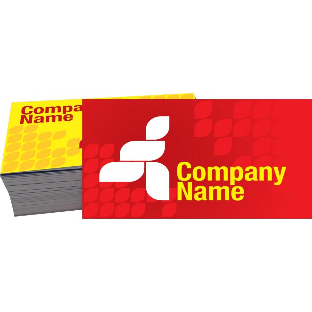 013G - Cartão de Visita 4x4 cor - Verniz UV Total Frente  - Fac Signs