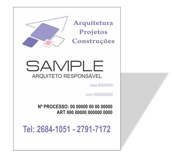 3025 - Placa em PVC 120x80cm - Envie sua arte ou solicite a criação  - Fac Signs