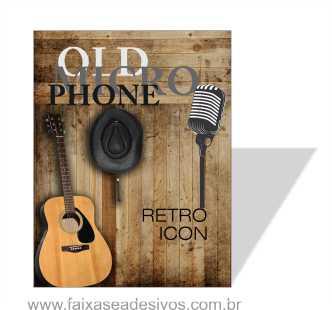 3026 - Placa em PVC 130x100cm - Com foto, textos, logotipos! Qualquer tema!  - Fac Signs