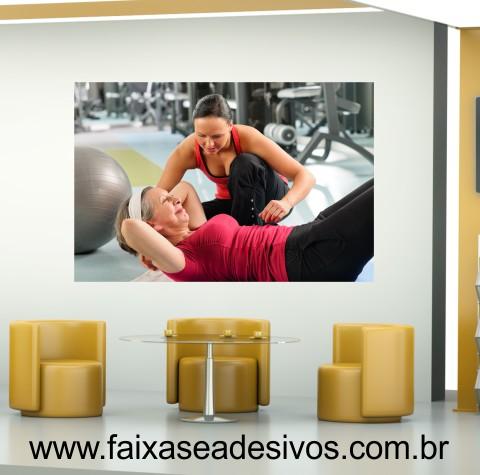 Adesivo Exercício na 3º idade 1,50 x 1,00m  - Fac Signs